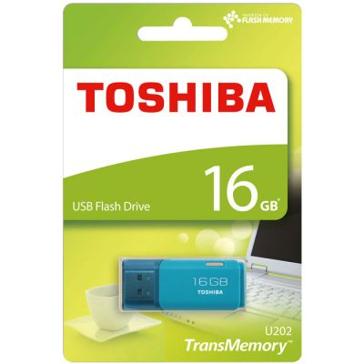 TOSHIBA TOS USB STICK 16GB U202 HAYABUSA AQUA NEW (USB 2.0 STICK