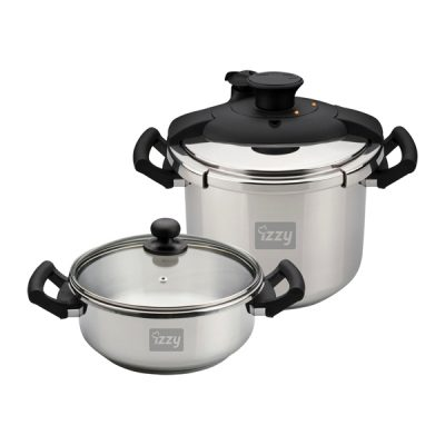IZZY COOKWARE MULTI SΕΤ 4LT +  8LT (ΣΕΤ ΧΥΤΡΑΣ & ΚΑΤΣΑΡΟΛΑΣ 8 + 4 ΛΙΤΡΩΝ)